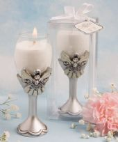 Angel Design Champagne Flute Candle Holder Favours